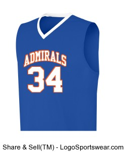 YAH LIFE Inc. - Gulfport High Admirals 34(Eckford) Design Zoom
