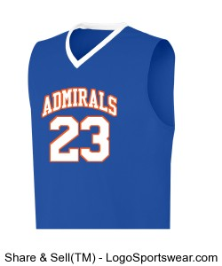 YAH LIFE Inc. - Gulfport High Admirals 23(Farrar) Design Zoom